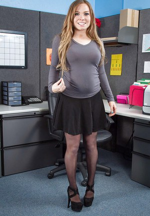 Teen young office busty